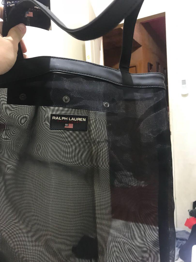 63515dac6e55 Ralph Lauren Polo sport mesh tote bag vintage