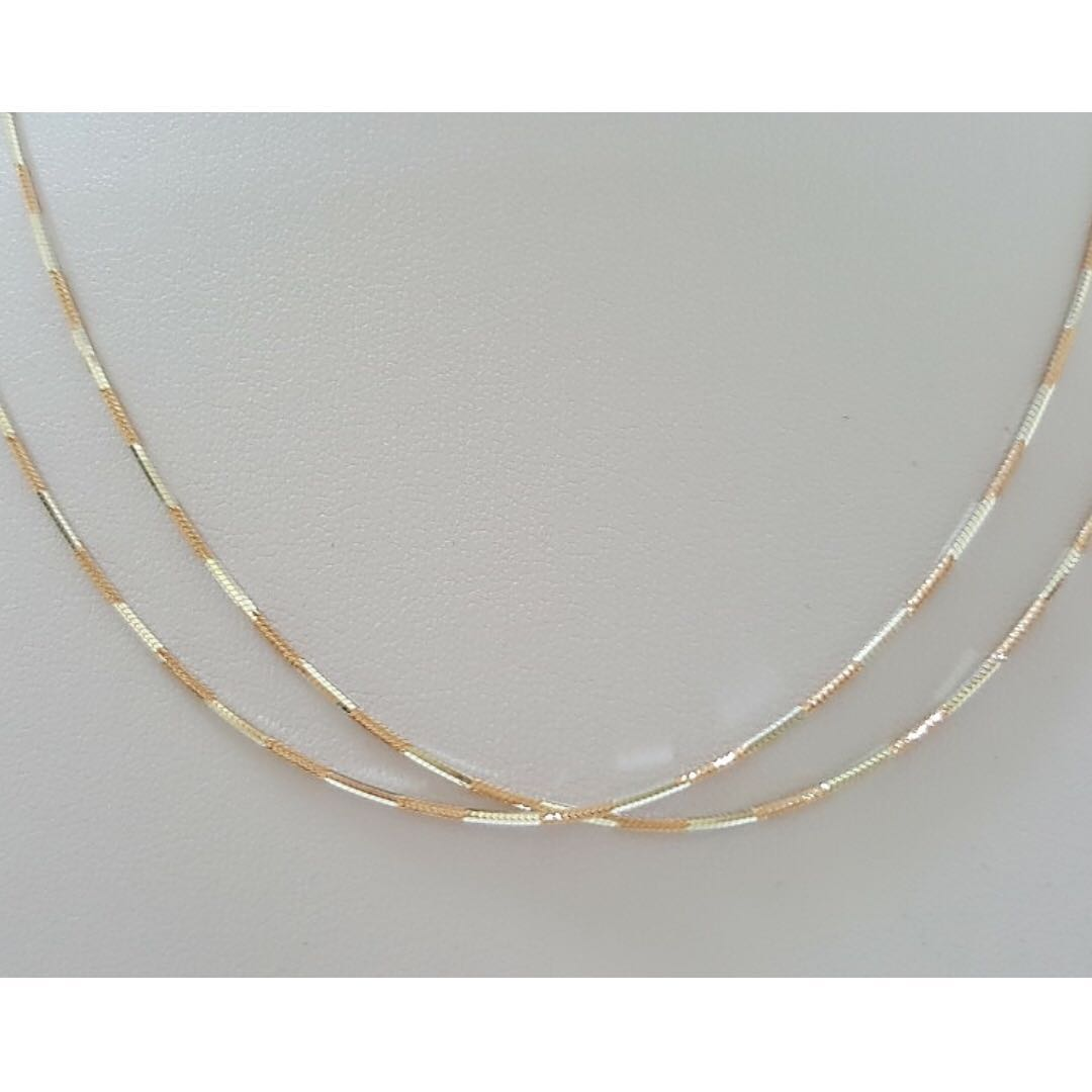 Rose Gold with Genuine 925 Sterling Silver Necklace from Italy  LCN002