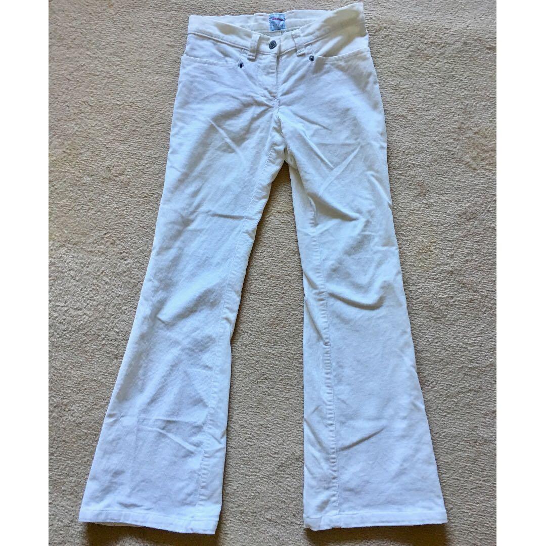 Sass Bide Corduroy White Flare Jeans New Women S Fashion Clothes On Carousell