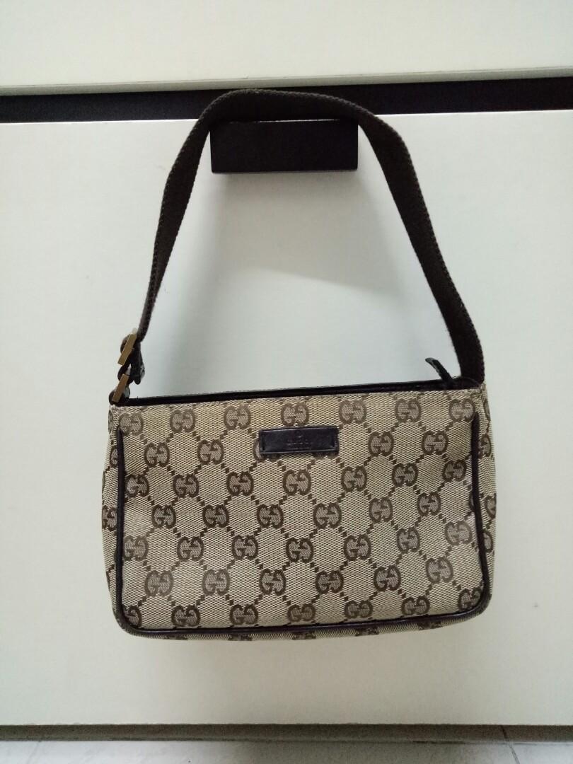 c4ffd914f33 Auth Gucci GG Canvas Mini Handbag W Dust Bag