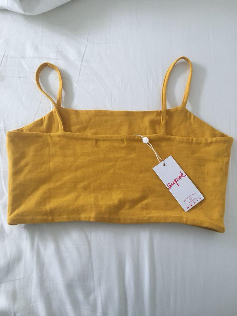 Supre thin strap crop top