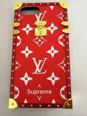 supreme x Louis Vuitton IPhone 6 phone case