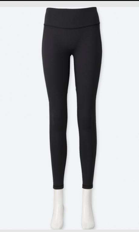 774d3b81db257 Uniqlo Women AIRism Leggings Black, Sports, Sports Apparel on Carousell