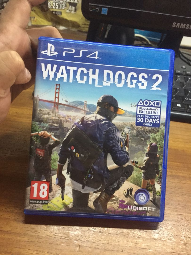 Watch Dogs 2 Region Video Game Di Carousell Kaset Bd Ps4 Reg 1 Photo