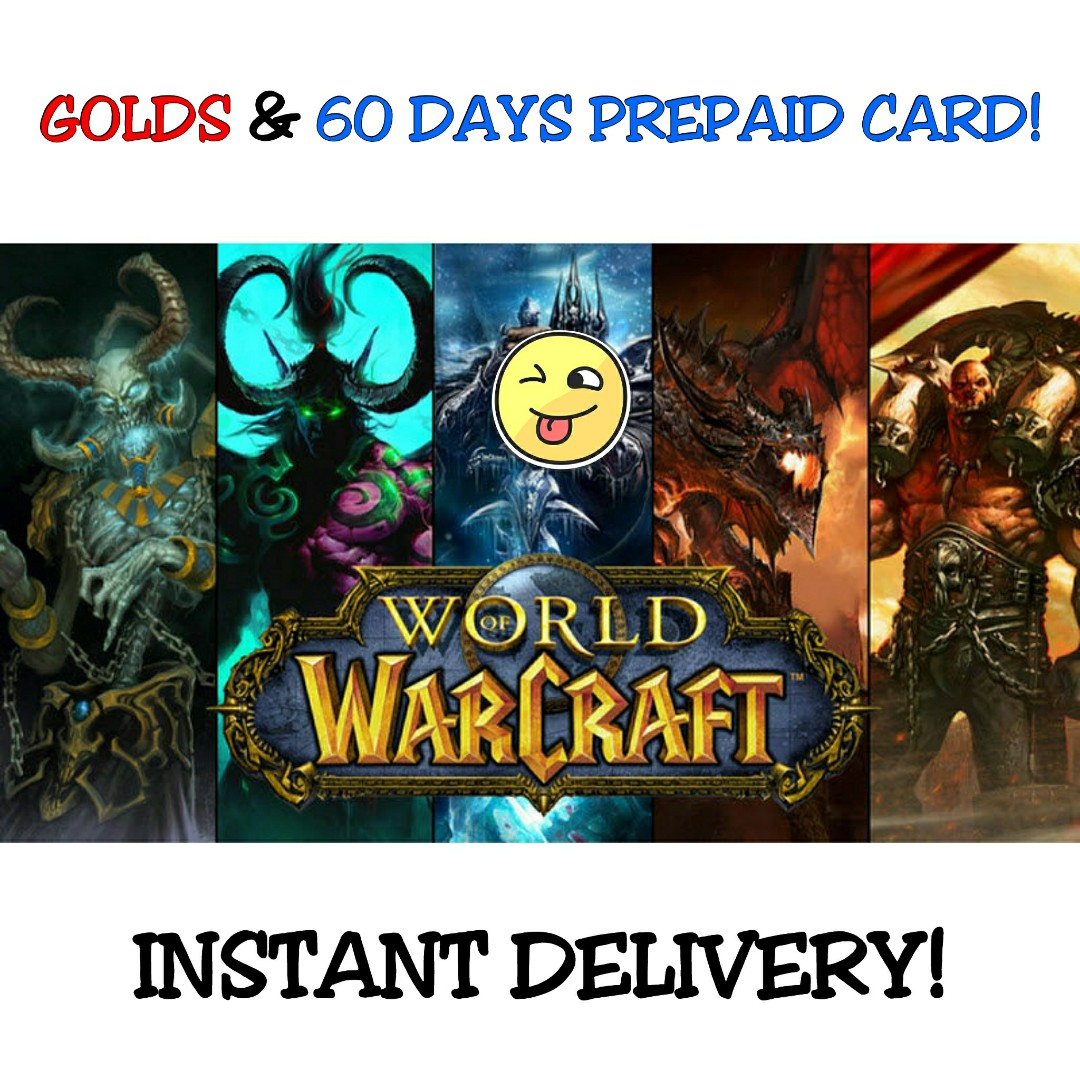 World of Warcraft Gold & 60 Days Prepaid Game Card [ GLOBAL ]
