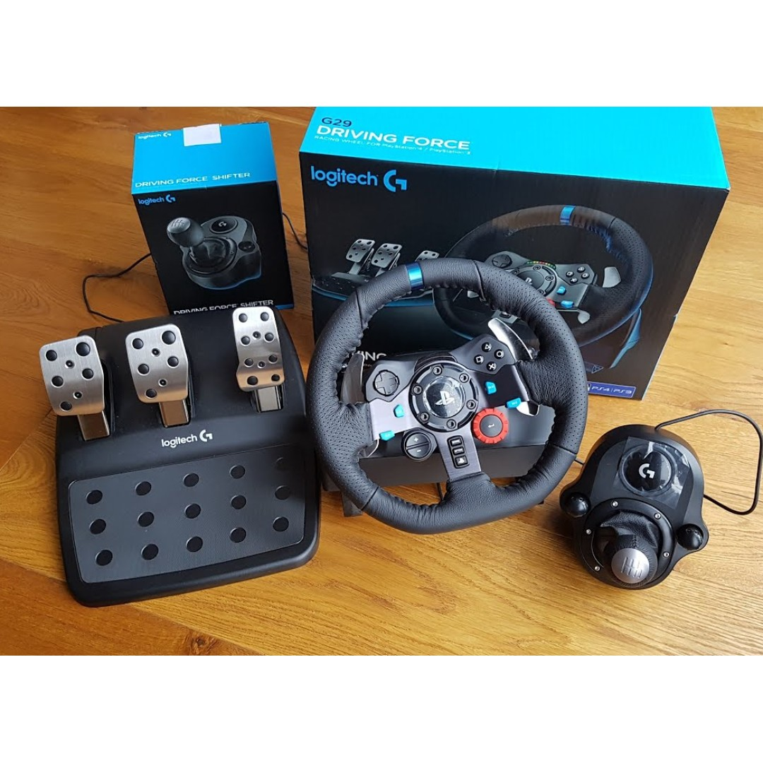 76da0a42653 WTS Logitech G29 + Shifter + Grand Turismo Sport, Toys & Games, Video  Gaming, Gaming Accessories on Carousell