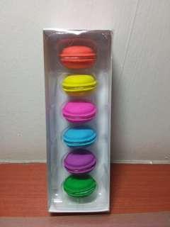 Smiggle macarons eraser set