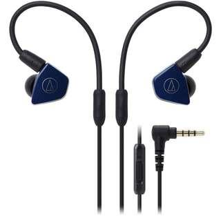 Audio Technica ATH-LS50iS Earphones with Mic (Navy)
