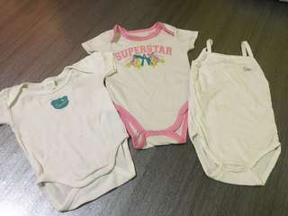 Combo rompers baby 3-6m