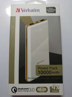 Verbatim Li-polymer QC 3.0 Power Pack 10,000mAh