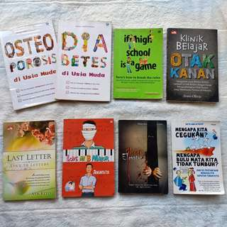 Buku Diabetes & Osteoporosis di Usia Muda / Klinik Belajar Otak Kanan / Pengetahuan Mengapa Kita Cegukan / Novel If High School Is A Game / Last Letter Aya Kito / Love In B Minor / Ghost Elevator Murah Preloved