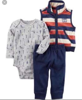 🚚 *6M* BN Carter's 3-Piece Little Jacket Set For Baby Boy