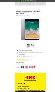 """iPad Pro 10.5"""" 256gb WiFi space grey"""