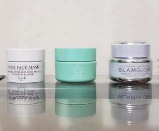 Fresh, Boscia and glam glow. Individual prices below!