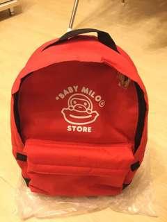New Baby Milo紅色背包