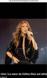 CAT A SECT 104 ROW S CELINE DION LIVE  CENTRE /FRONTING STAGE