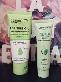 Cosmoderm Tea Tree Moisturizer & Serum