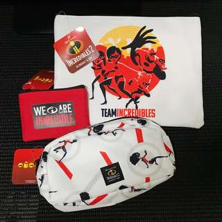 Incredibles 2 Pouch Set