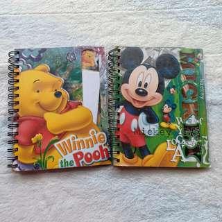 Binder Mickey Mouse dan Winnie The Pooh Anak Preloved