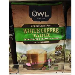 新加坡代購預購 許願商品 OWL貓頭鷹 三合一 咖啡(榛果) 15包