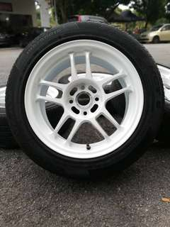 Racing hart 15 inch sports rim toyota vios tyre 70%. *mor mor morah kasi you*