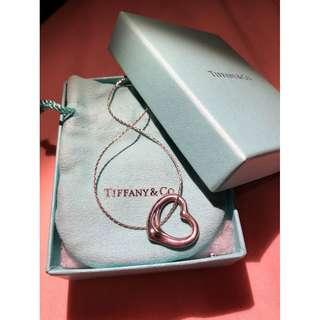 (original price $3000up) Tiffany & Co, Elsa Peretti Open Heart Pendant 270mm, 100% real