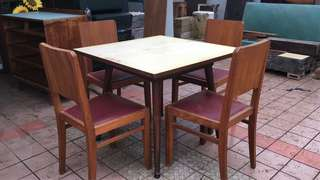 Vintage Dining Table with 4pcs chair