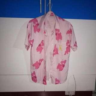 奇怪ㄉ粉紅小熊軟糖襯衫