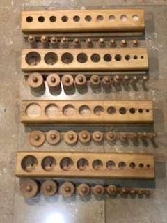 Montessori Knobbed Cylinder Blocks (Professional set)