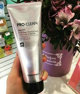 TONYMOLY PRO CLEAN SMOKY SCRUB DEEP CLEANSING FOAM