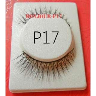 #P17 : False Eyelash : Eyes : Lash : Lashes : Eyeslash : Eyeslashes : Eyelashes : Falsies : Face : Facial : Makeup : Cosmetics : Beauty : Tools : Ladies : Girls : Women : Female : Lady : Sellzabo : Black Colour