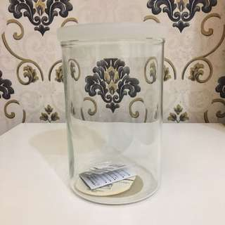 🚚 無印良品 MUJI 丸型保存容器 玻璃餐具 約800ml