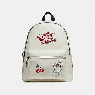 CHARLIE BACKPACK WITH AMERICAN DREAMING MOTIF COACH F25910