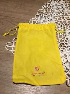 🚚 RWS Drawstring Yellow Bag