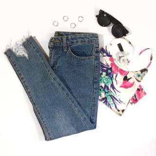 Frayed Mom jeans