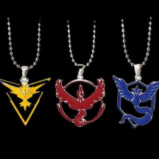 Pokemon Go Team Necklace