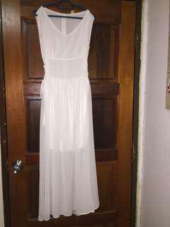 White Long Dress (INC POST) Fit to M
