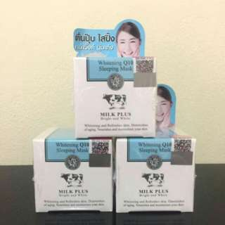 Scentio Milk Plus Whitening Q10 Sleeping Mask [JASTIP HANDCARRY THAILAND 2]
