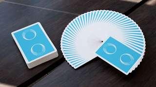 (1 set 兩副)Blue Saturn Playing Cards