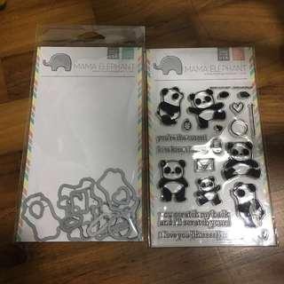 Mama elephant Pandamonium stamp and die