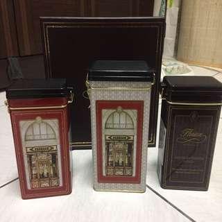 🚚 義大利福里安花神 全新咖啡豆罐 鐵盒 擺飾 收藏 復古鐵盒