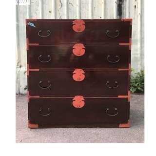 【swallow燕子二手老傢俱】早期 斗櫃 衣櫃 抽屜櫃 收納櫃 實木 古董 [1804125]