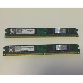 Kingston DDR2 KVR800 2G Ram X 2(4G)