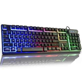 Keyboard luminous colourful lights