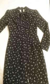 Sisley 音符 緊身洋裝