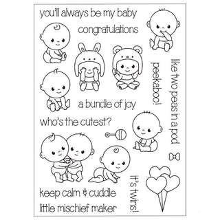 🚚 🌸 Babies Clear stamps