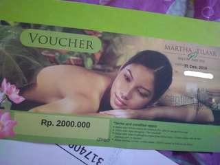 Voucher Martha Tilaar Spa Senilai Rp. 2.000.000,-