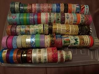 Washi lot (97 different rolls)