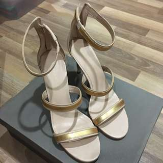 Charles & Keith nude pink strappy heels