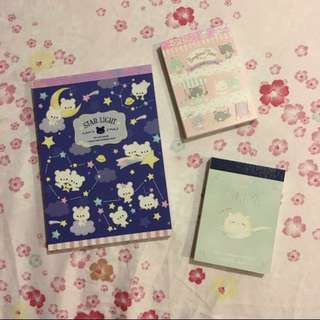 Japan Cute Memopads Set